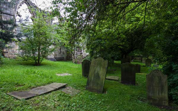 Death comes to us all… St Olave's churchyard, York. Photograph: Allan Harris