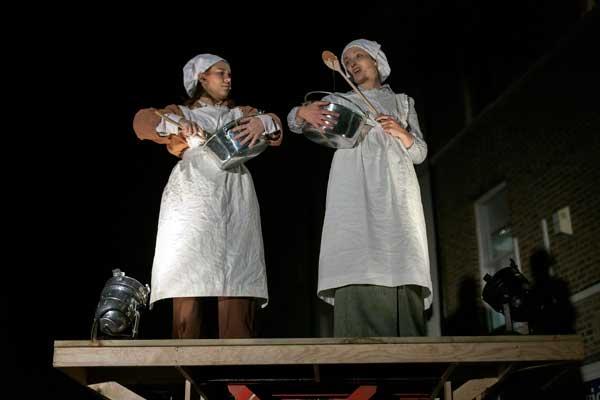 The Rowntree girls. Nicola Bradley as Phyllis and Edith Kirkwood as Maisie. Photograph: James Drury