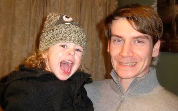 Missing: Daniel Jarvis with his nephew Finnley