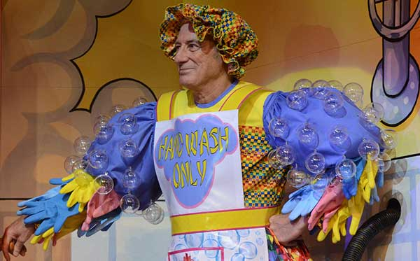 Berwick helps the Theatre Royal clean up again in Aladdin And The Twankeys. Photograph: York Theatre Royal