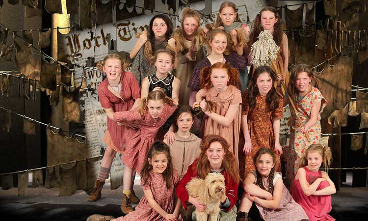 One of the casts of York Stage Musicals' production of Annie