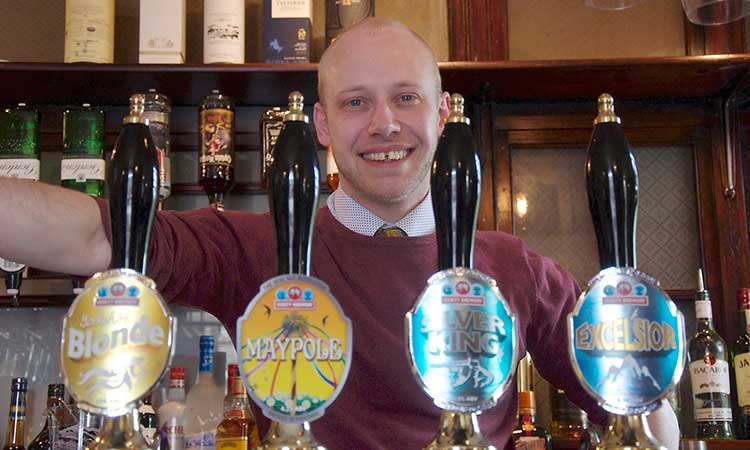 'I love the real ales': Giles Seddon at the Fox. Photographs: Richard McDougall