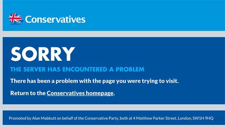 conservative-website-error