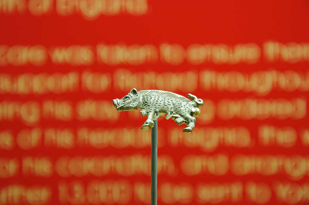 The Richard III boar badge, now in the Yorkshire Museum