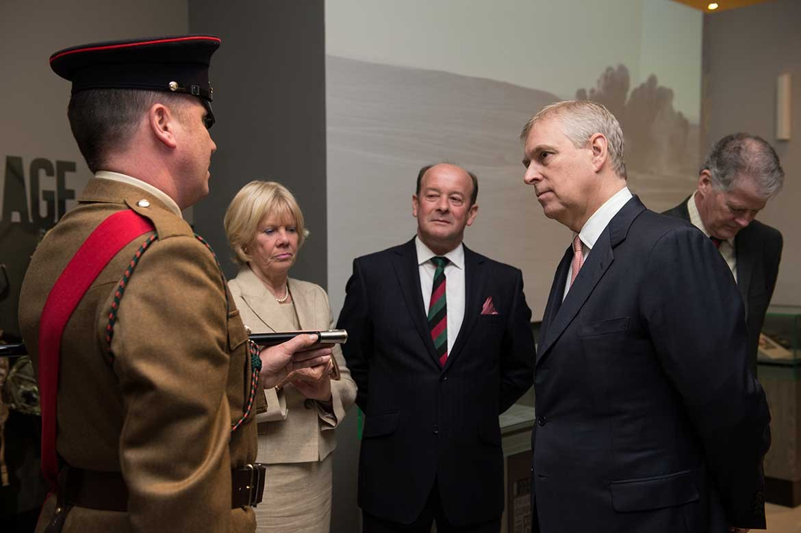 A former military man himself, the Duke listens intently. Photograph: Sgt Si Longworth / MOD