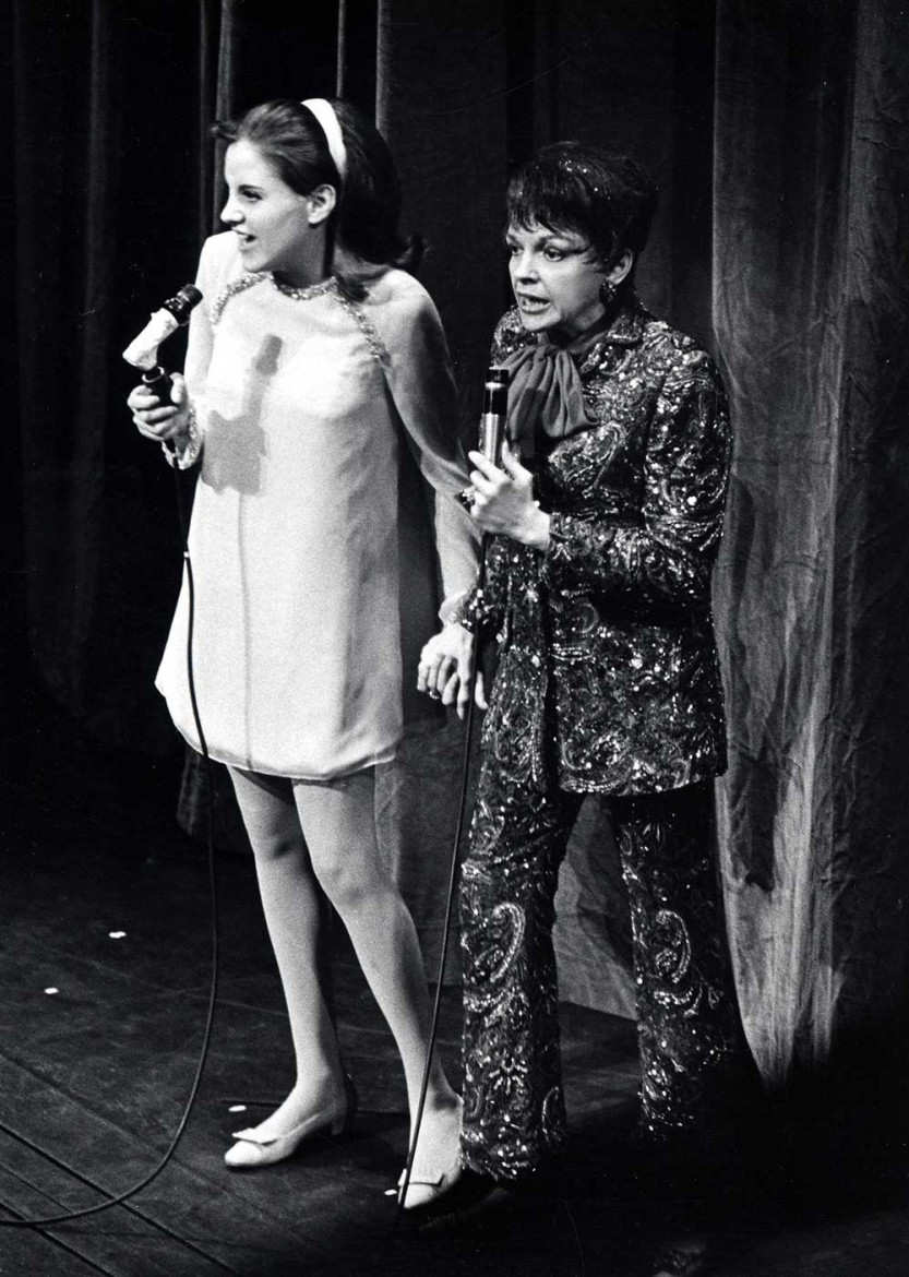Lorna and mother Judy Garland perform together at the Palace Theatre , New York City, in July 1967. Photograph: Ron Galella / WireImage