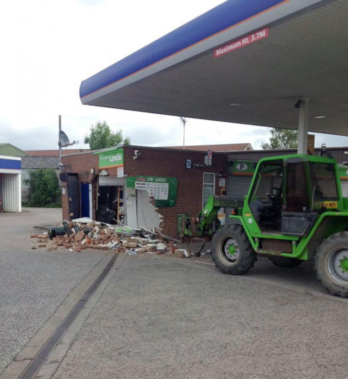 The scene of devastation at  Penny Petrol Station on Hull Road. Photograph: NYP York North on Twitter