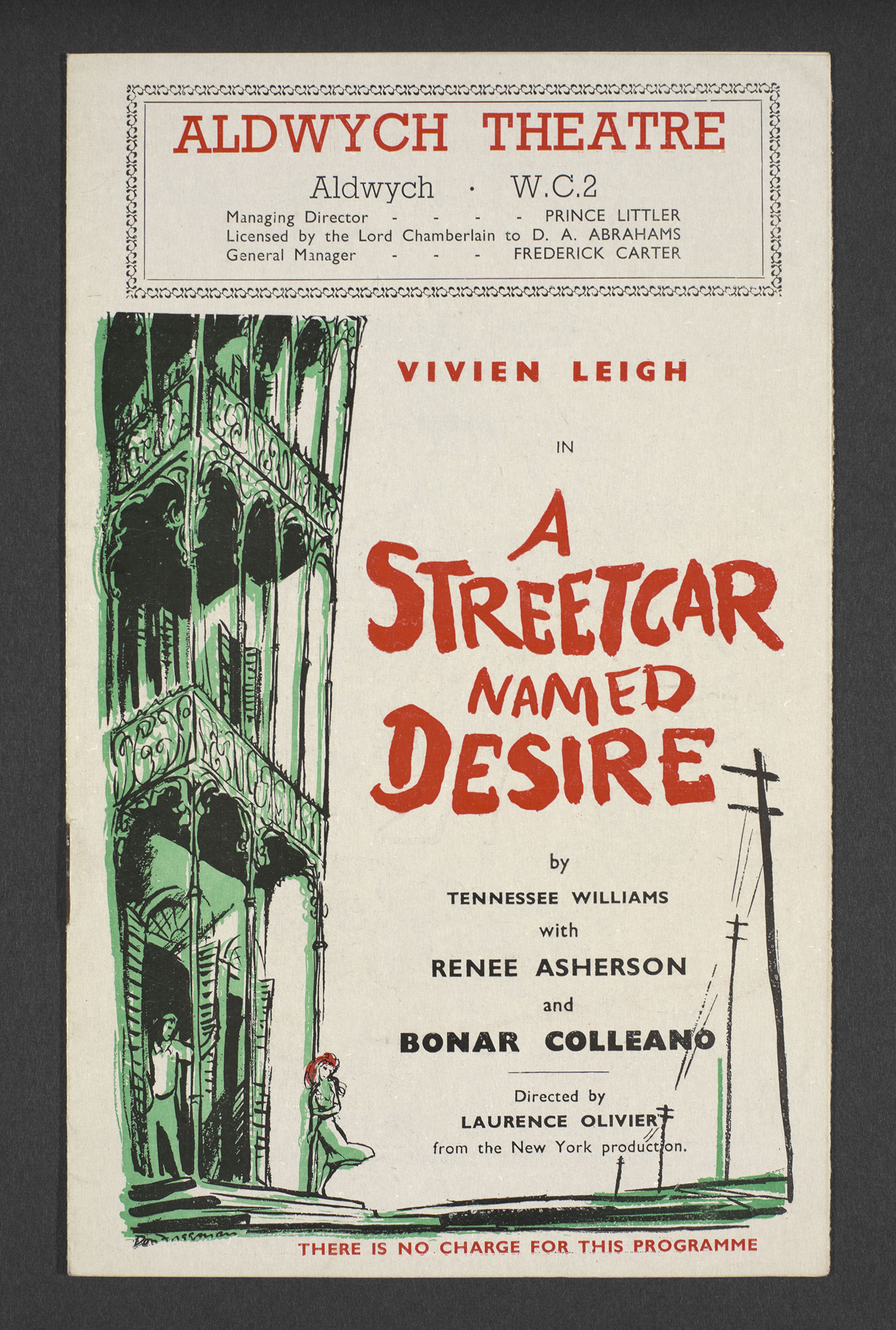 Theatre programme for A Streetcar Named Desire (1949) © Victoria and Albert Museum, London/ V.L. Archive