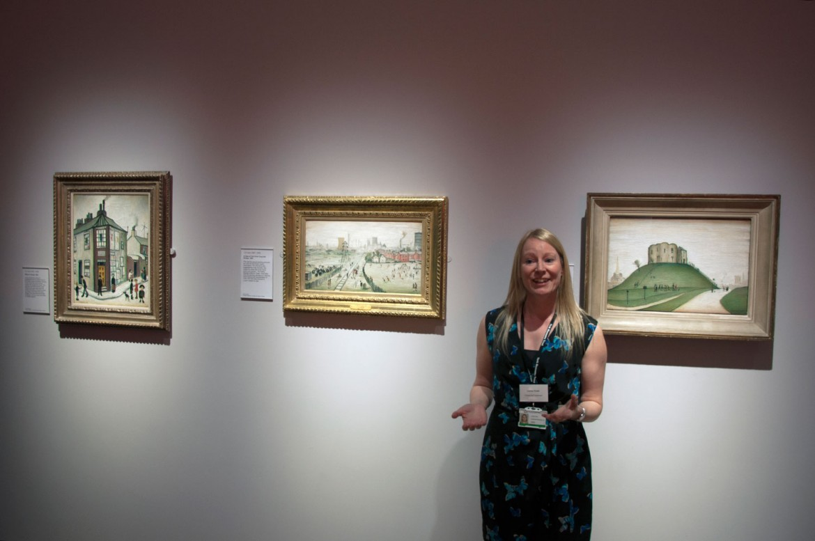 The three paintings of York by LS Lowry, displayed together for the first time, with curator Lorna Frost