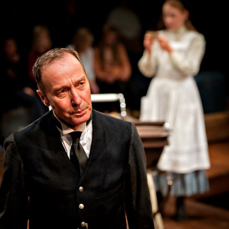 Martin as Mr Perks in The Railway Children. Photograph: Anthony Robling
