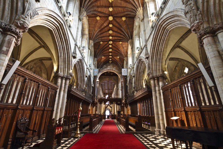 Inside Selby Abbey. Photograph © Michael Beckwith