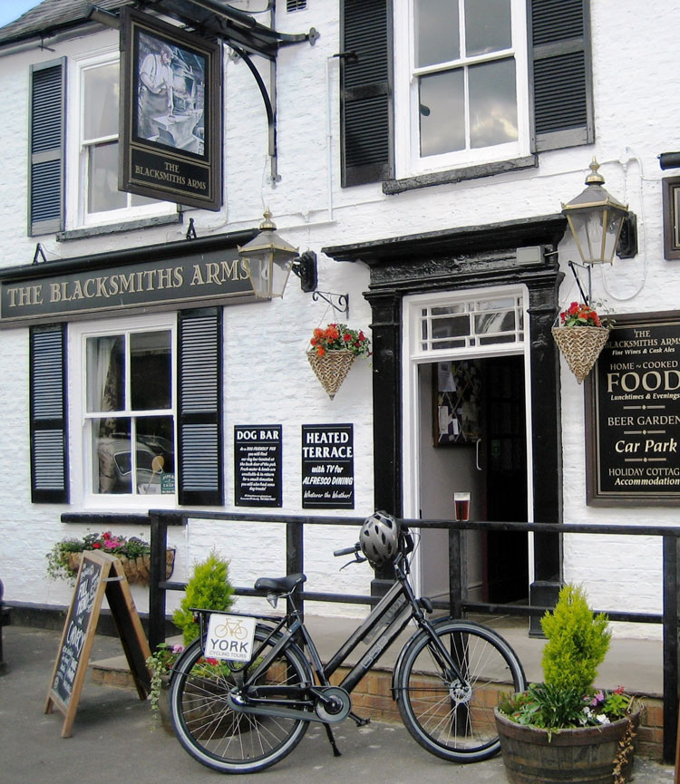 The Blacksmiths Arms - well worth the four-mile pedal along the banks of the Ouse