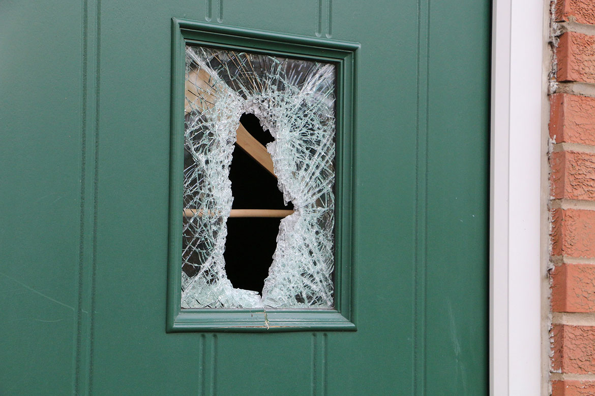 Pictured Windows Smashed Doors Off Their Hinges