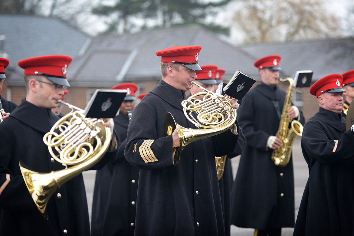 The band plays for the heroes