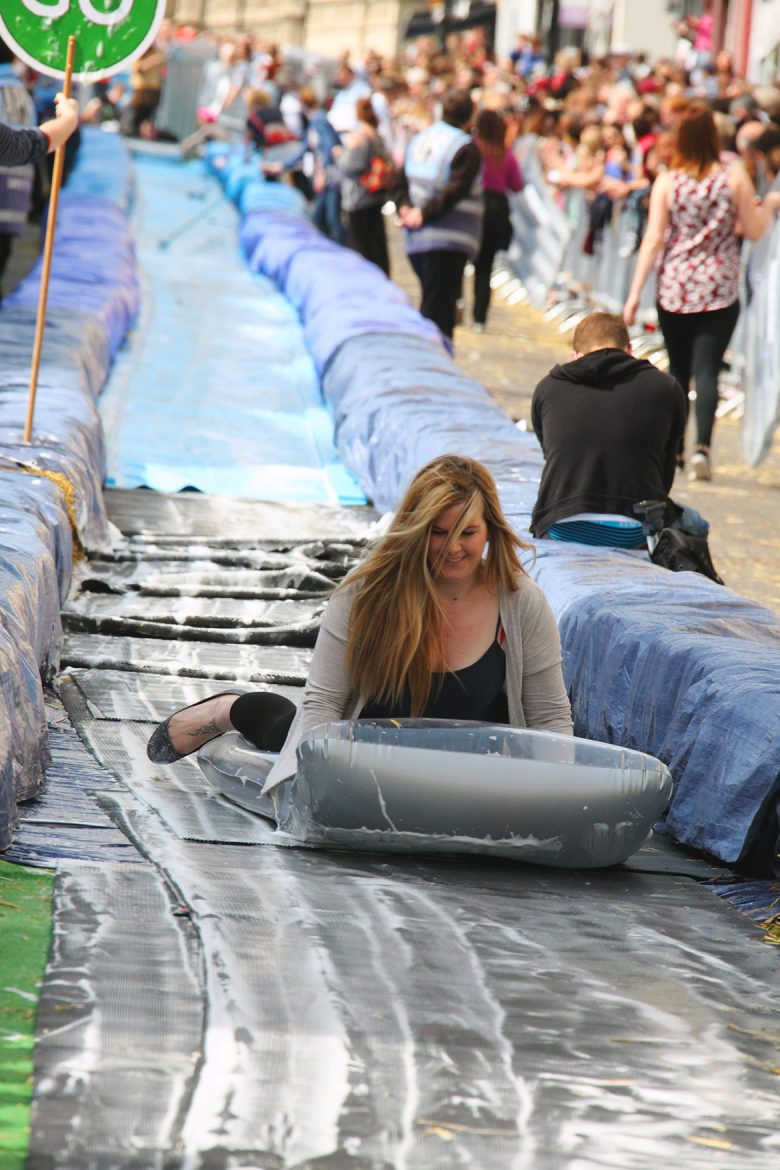 The Bristol water slide. Photograph © Charlie Marshall on Flickr