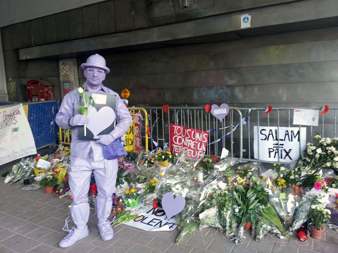 Adding York's tribute at the station