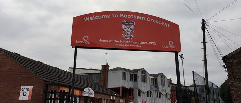 Tough times at Bootham Crescent. Photograph: YorkMix
