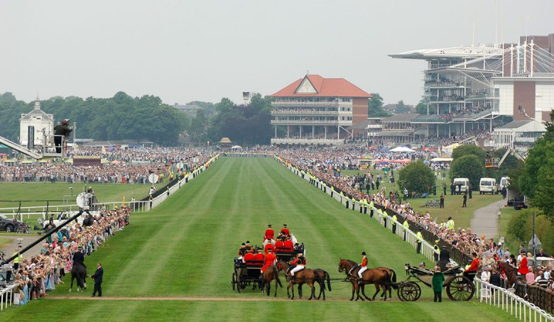 The procession arrives during Royal Ascot at York in 2005. Photograph: York Racecourse