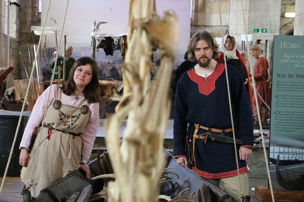 … the Jorvik Vikings arrive in St Mary's. Rachel Cutler is Viking ...