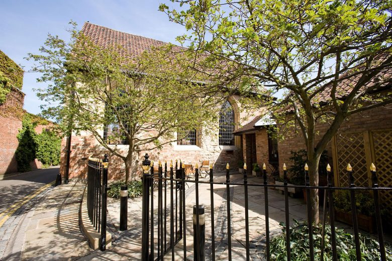 The beautiful Bedern Hall, just yards from two busy York shopping streets