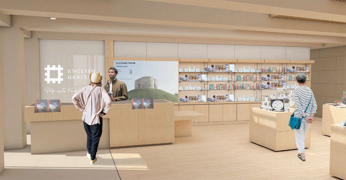Inside the visitor centre and shop