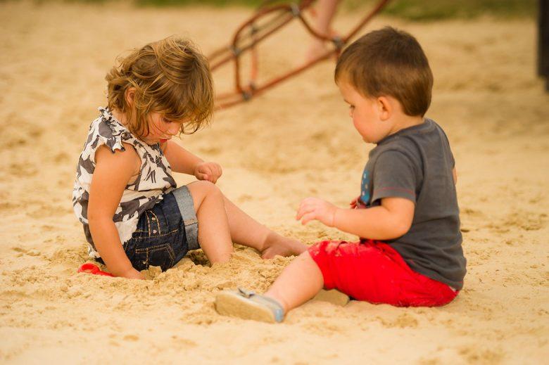 Children play in the sand at the York Maze. Photograph: Jonathan Pow/ jp@jonathanpow.com