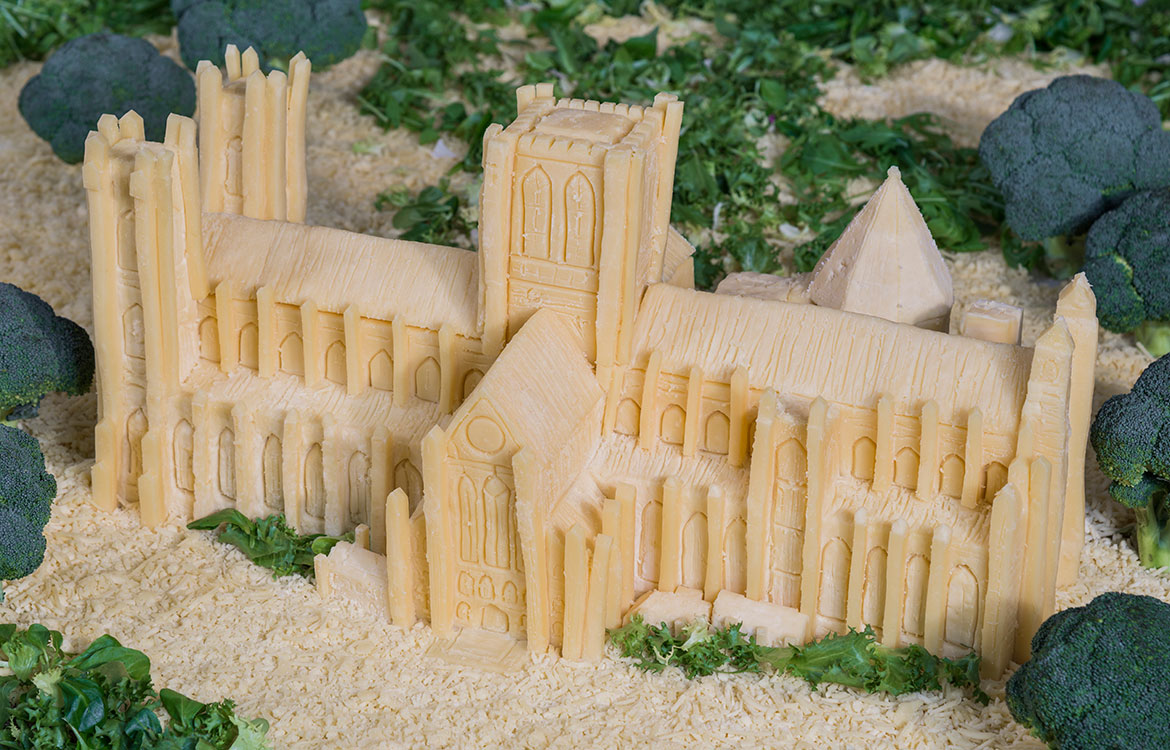 Big cheese: York Minster carved from Wensleydale
