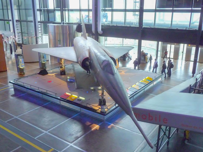 The Mirage lVA in the Citée des Sciences Museum which will soon be at Elvington