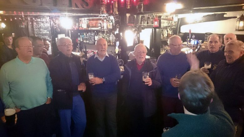 For many years the York Philharmonic Male Voice Choir have performed in the Snickleway after their rehearsals. And they sang at Frank and Di's silver wedding anniversary