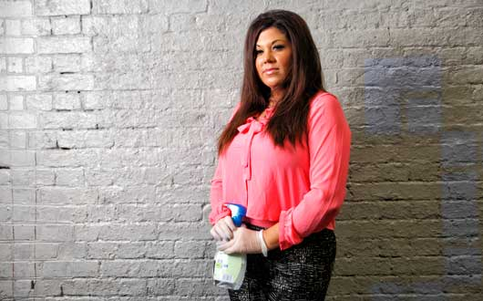 Let us spray… Hayley from Obsessive Compulsive Cleaners. Photograph: Channel 4