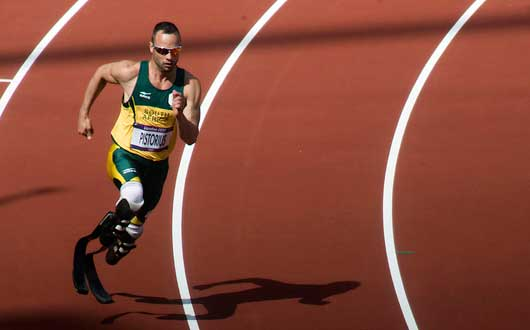 Oscar Pistorius at the London 2012 Olympic Games. Photograph: Wikipedia