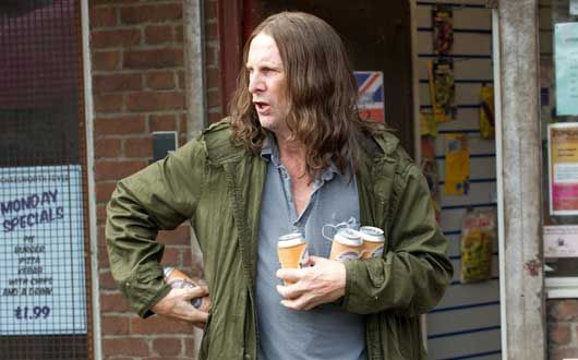He's back… Frank Gallagher in Shameless on Channel 4