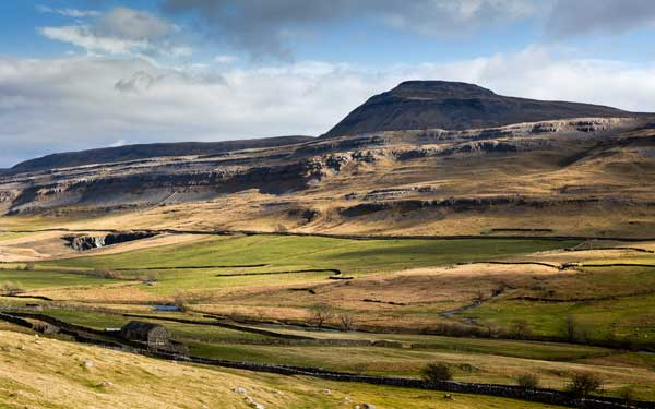 The beauty of Yorkshire is included in the exhibition; this image is of Ingleborough
