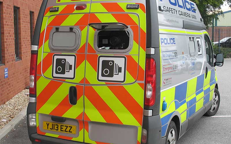 A mobile safety camera unit. Photograph: North Yorkshire Police