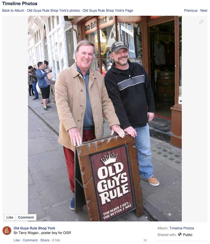 Sir Terry Wogan says Old Guys Rule