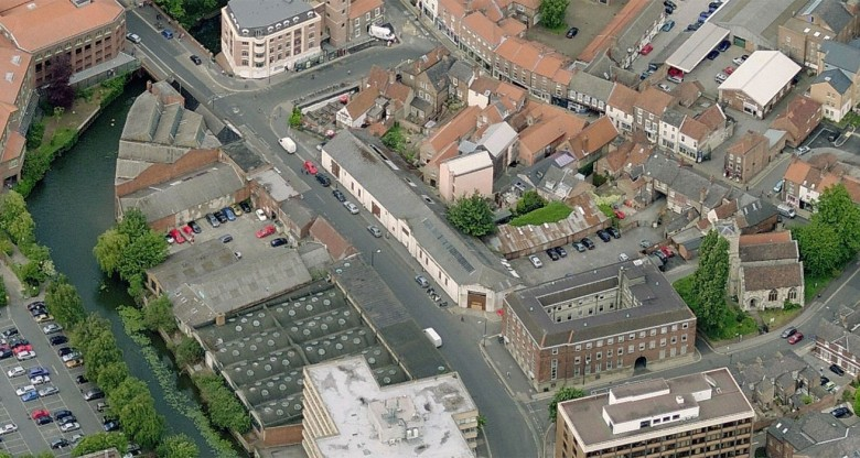 An aerial view of Piccadilly shows the size of the Reynard's Garage site. Photograph: Bing Maps