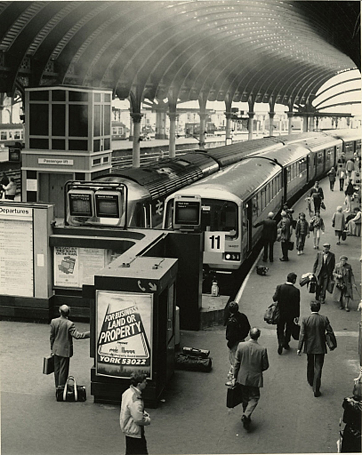 Coming into the modern era, York station in 1987