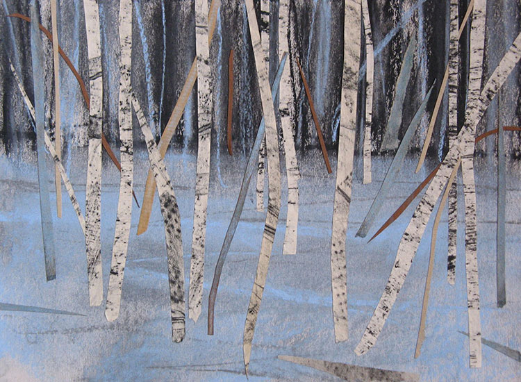 Blue Forest by Janine Baldwin at the Blue Tree Gallery