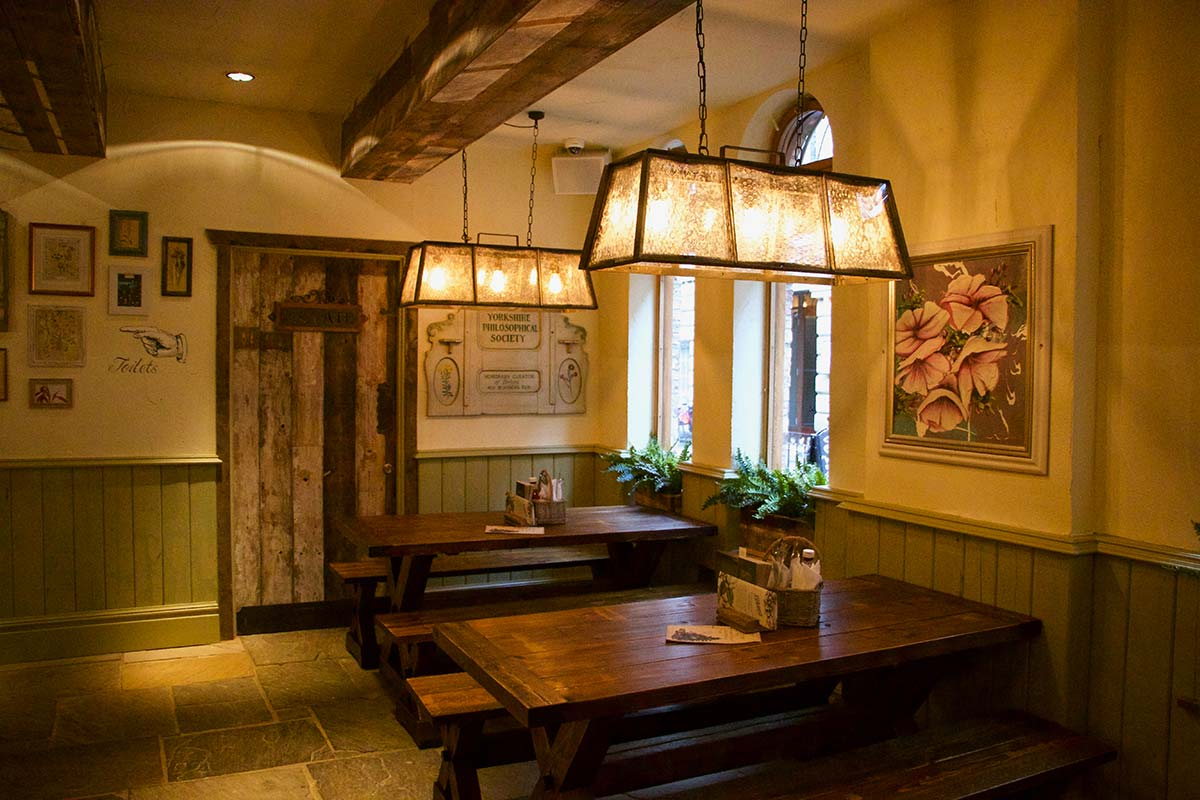 Dine under the historic beams