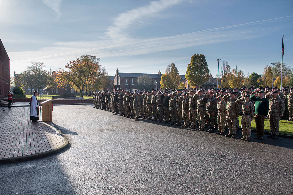 The service outside the 1 (UK) Division Headquarters building