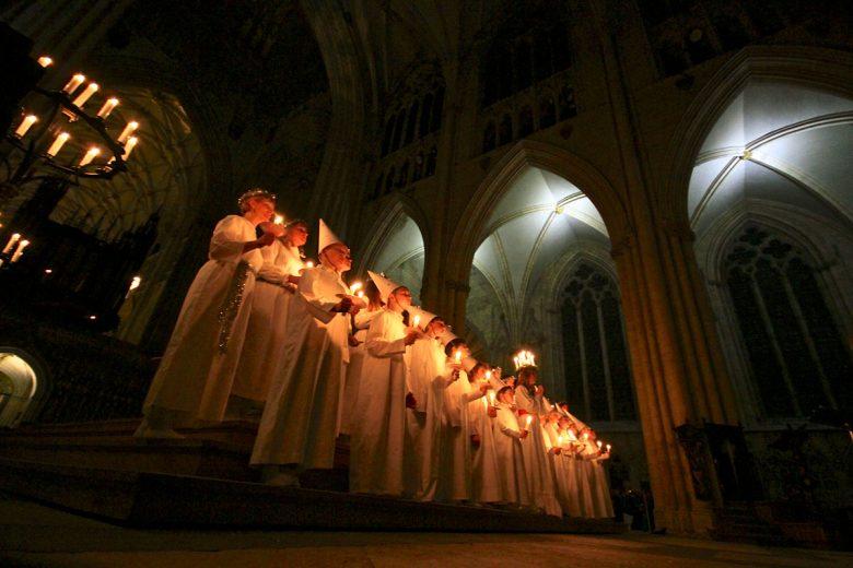 The choir from the 2013 Sankta Lucia service. Photograph: York Minster
